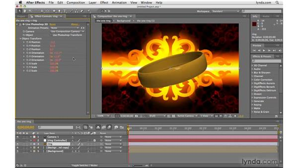 Working with Live 3D objects from Photoshop: After Effects CS4 Beyond the Basics