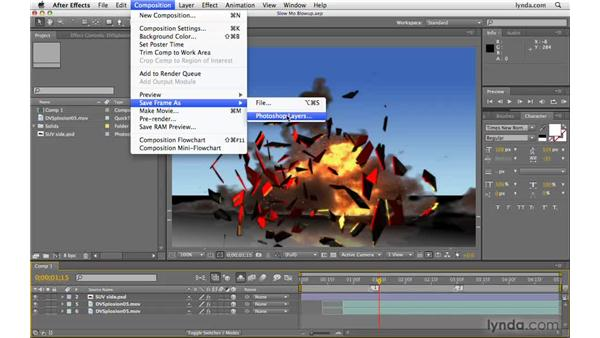 Exporting After Effects frames as layered Photoshop files: After Effects CS4 Beyond the Basics