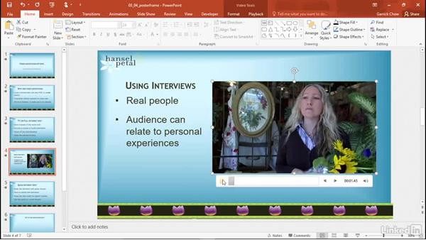 Select a poster frame: PowerPoint 2016: Audio and Video In Depth