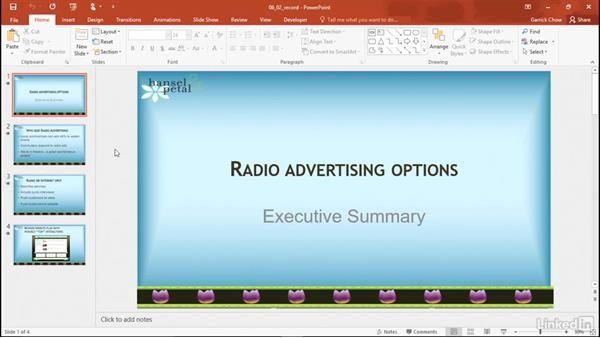 Record directly into PowerPoint: PowerPoint 2016: Audio and Video In Depth