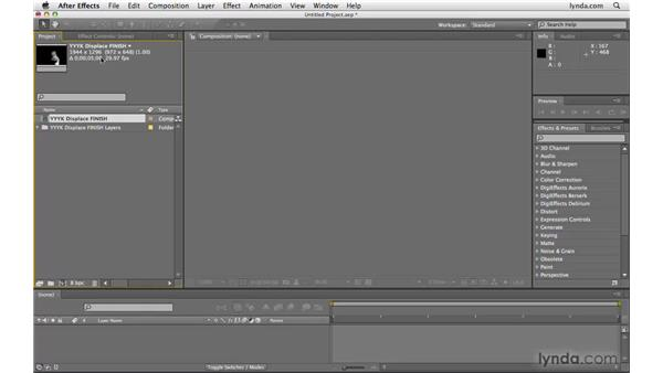 Importing the PSD into After Effects: After Effects CS4 Beyond the Basics
