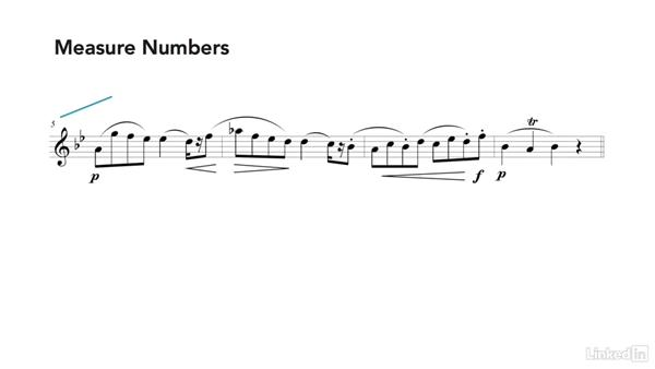Rehearsal marks, numbers, and barlines: Learning Music Notation