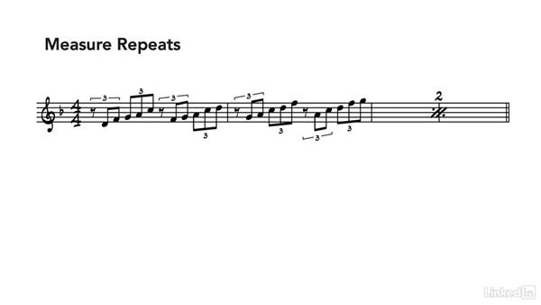 Measure repeats: Learning Music Notation
