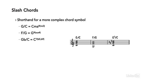 Inversions, slash chords, and polychords: Learning Music Notation