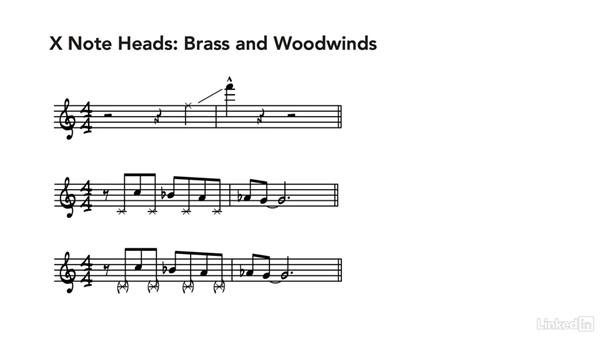 Alternate noteheads: Learning Music Notation