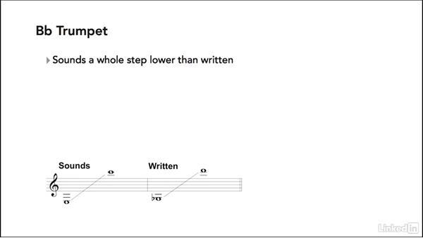 Score setup: Transposing instruments: Learning Music Notation