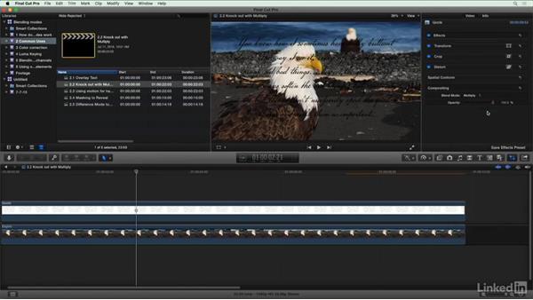 Knock out white with Multiply: Final Cut Pro X Guru: Blending Mode Secrets