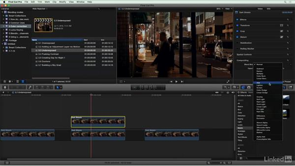 Helping an underexposed shot: Final Cut Pro X Guru: Blending Mode Secrets