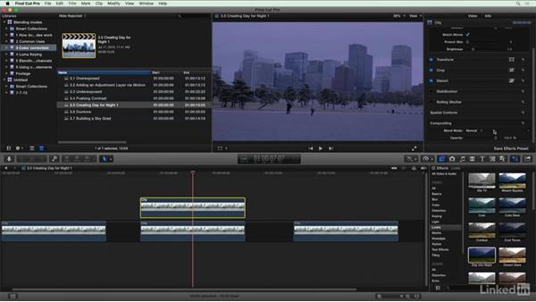 Creating day for night: Final Cut Pro X Guru: Blending Mode Secrets