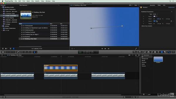 Building a sky gradient: Final Cut Pro X Guru: Blending Mode Secrets