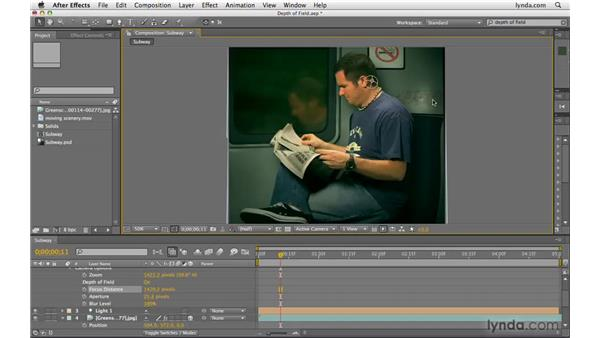 Creating depth of field: After Effects CS4 Beyond the Basics