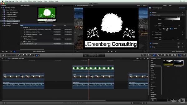 Video inside of a logo: Final Cut Pro X Guru: Blending Mode Secrets
