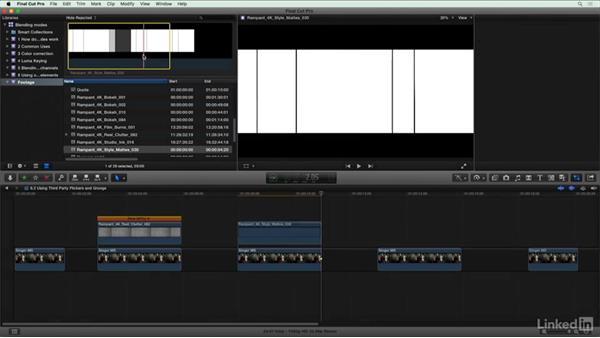 Using third-party flickers and grunge: Final Cut Pro X Guru: Blending Mode Secrets