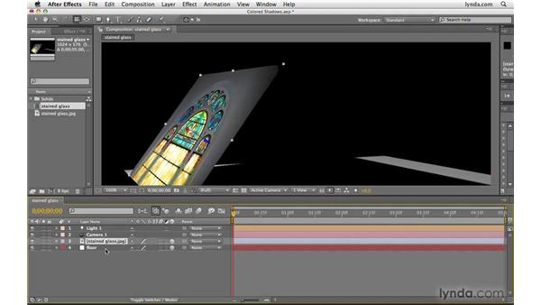 Creating stained glass shadows: After Effects CS4 Beyond the Basics