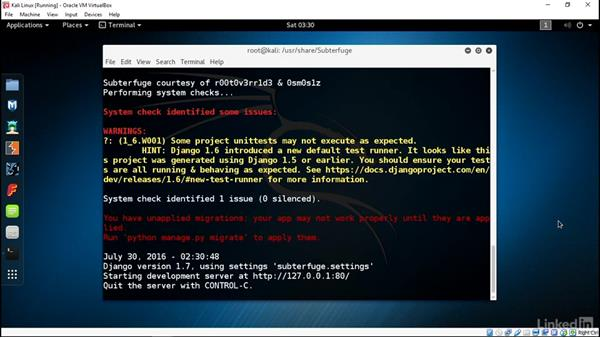 Using Subterfuge to hijack sessions through ARP poisoning: Ethical Hacking: Session Hijacking