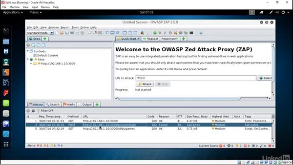Using Zed Attack Proxy: Ethical Hacking: Session Hijacking