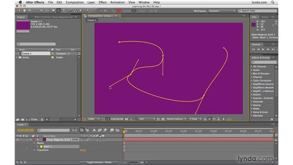 Adjusting handles and corner points: After Effects CS4 Beyond the Basics