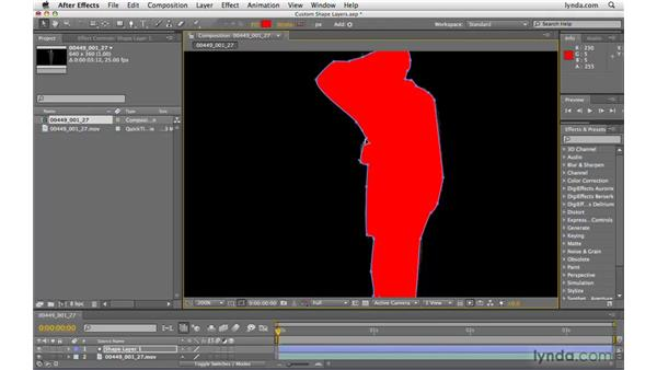 Creating shape layers from custom shapes: After Effects CS4 Beyond the Basics