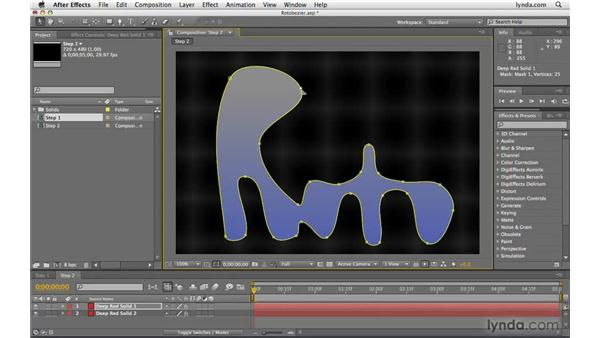 Working with RotoBezier paths: After Effects CS4 Beyond the Basics