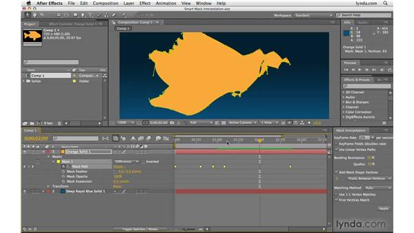 Advanced mask shape animation: After Effects CS4 Beyond the Basics