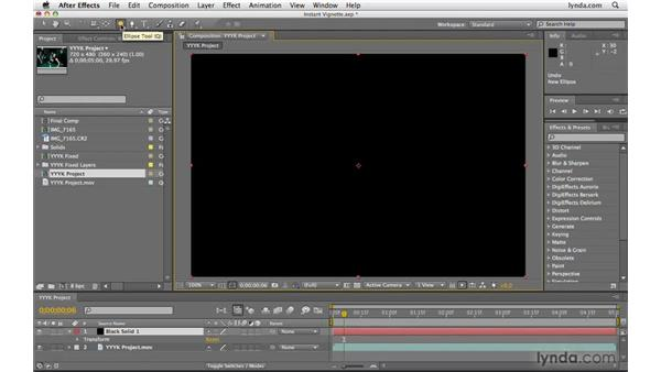 Creating a mask instantly: After Effects CS4 Beyond the Basics