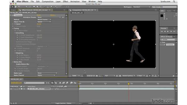 Making smooth slow-motion shots: After Effects CS4 Beyond the Basics