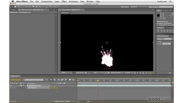 """Creating a """"suspended time"""" effect: After Effects CS4 Beyond the Basics"""