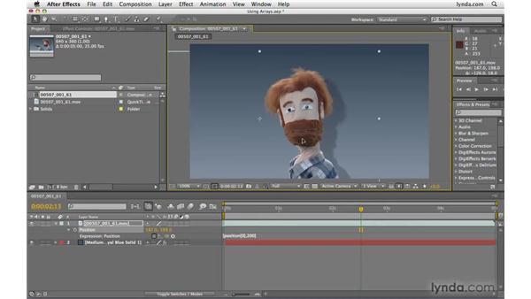Using an array: After Effects CS4 Beyond the Basics