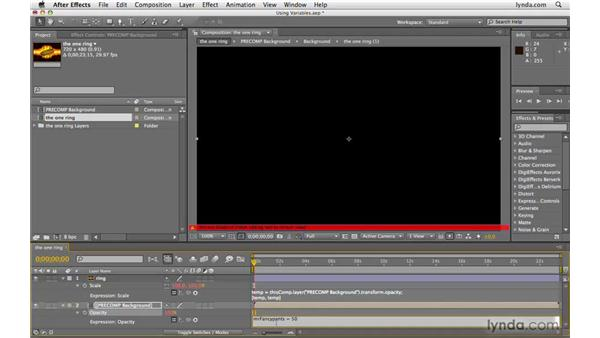 Using variables: After Effects CS4 Beyond the Basics