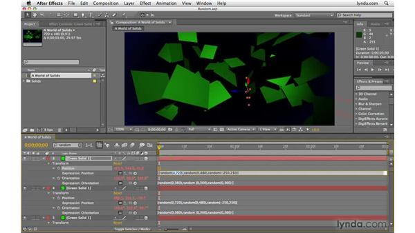 Creating randomness with the random expression: After Effects CS4 Beyond the Basics