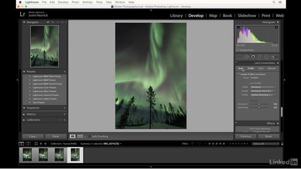 Editing photos of the aurora borealis: Landscape Photography: Winter