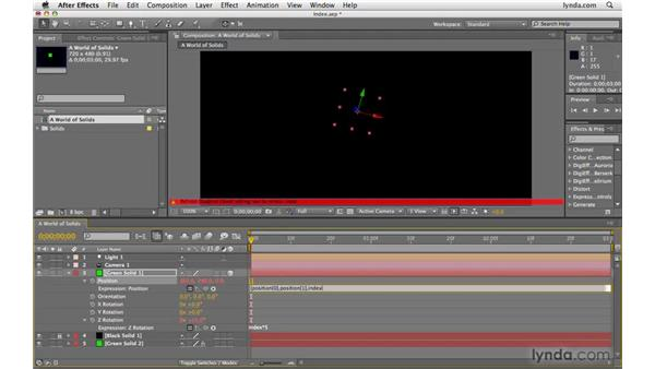 Using the index expression: After Effects CS4 Beyond the Basics