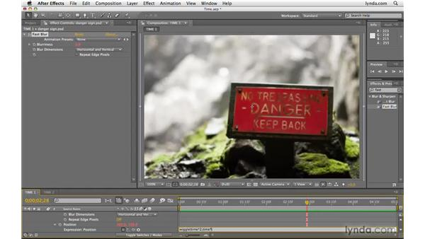 Using the time expression: After Effects CS4 Beyond the Basics