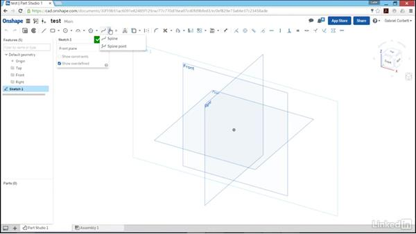 Creating sketches: Learn Onshape: The Basics
