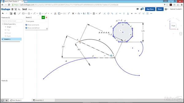 More sketch tools (spline, polygon, point, and text): Learn Onshape: The Basics