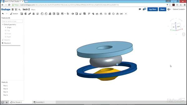 Creating revolved features: Learn Onshape: The Basics