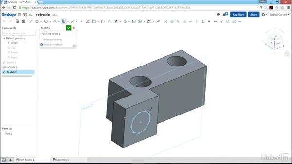Using the extrude feature: Learn Onshape: The Basics