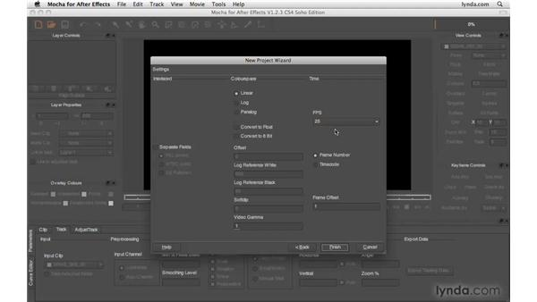 Setting up a new Mocha project: After Effects CS4 Beyond the Basics