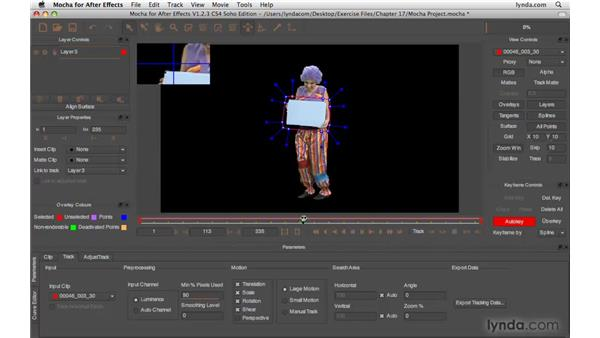 Tracking footage elements: After Effects CS4 Beyond the Basics