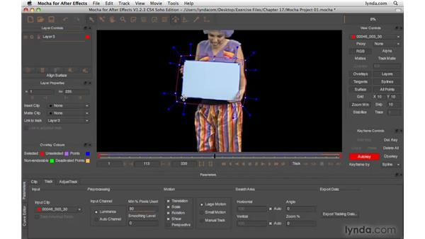 Creating the tracking surface: After Effects CS4 Beyond the Basics
