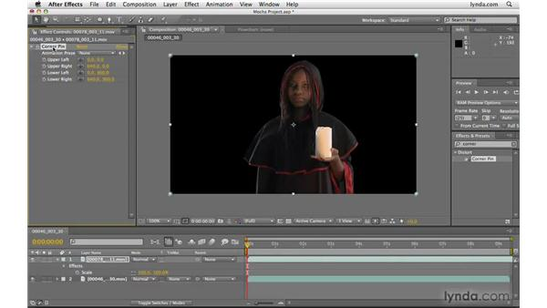 Using Mocha data in After Effects: After Effects CS4 Beyond the Basics