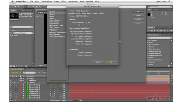 Rendering with OpenGL: After Effects CS4 Beyond the Basics