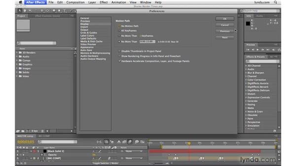 Shortening render times: After Effects CS4 Beyond the Basics