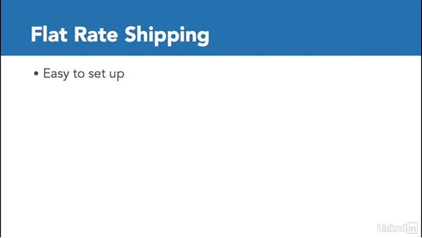 Determine product shipping options: Learn Shopify: The Basics