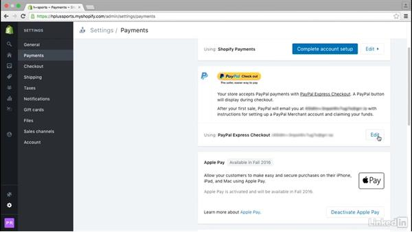 Set up PayPal: Learn Shopify: The Basics