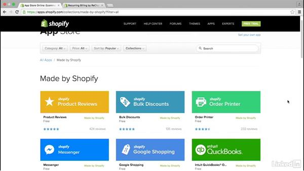 Browse the Shopify app store: Learn Shopify: The Basics
