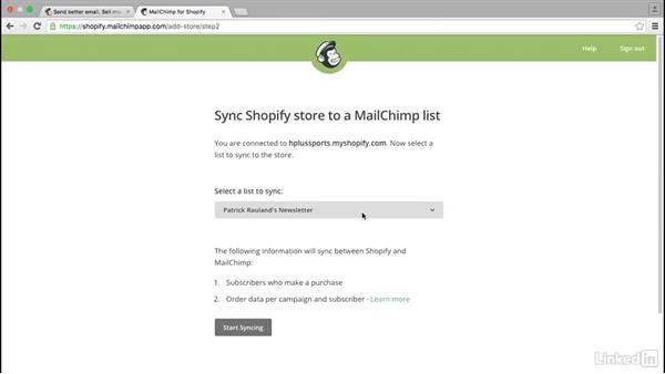 Install the MailChimp app: Learn Shopify: The Basics
