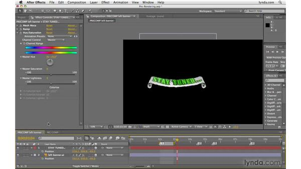 Pre-rendering layers: After Effects CS4 Beyond the Basics