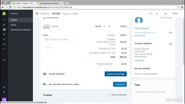 Manage orders: Learn Shopify: The Basics