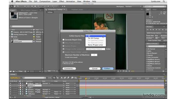 Transferring AE projects to another machine: After Effects CS4 Beyond the Basics